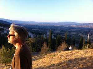 Overlooking the Umbrian Plains in the footsteps of St Francis